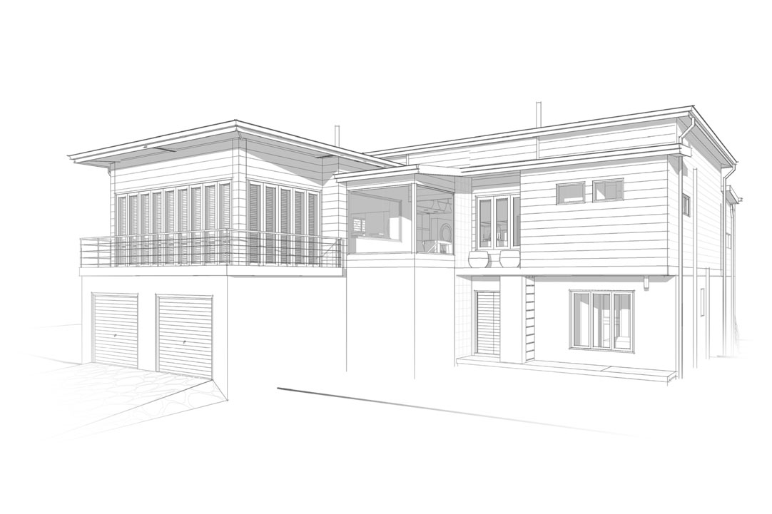 Nieuwoudt Architects Holiday Home Architectural Drawing